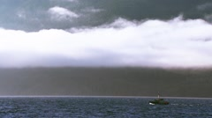 Fishing boat leaving Johnstone Strait. Stock Footage