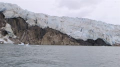 POV traveling shot of a glacier in Greenland. Slow Motion - stock footage
