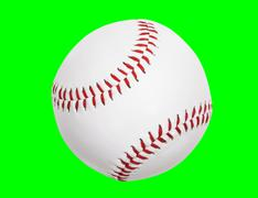 New Baseball Isolated with Clipping Path Stock Photos