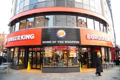 LONDON - JANUARY 22nd: The exterior of Burger king on January the 22nd, 2015, Stock Photos