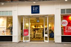 Stock Photo of LONDON - JANUARY 22nd: The exterior of Gap on January the 22nd, 2015, in Lond