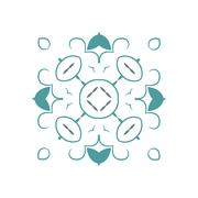 Vector ornamental white background with oriental pattern style - stock illustration