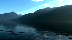 Landscape of Telegraph Cove, British Columbia. Stock Footage