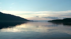 Time lapse of the sun setting over Telegraph Cove. Stock Footage