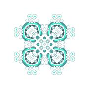Stock Illustration of Vector ornamental white background with oriental pattern style