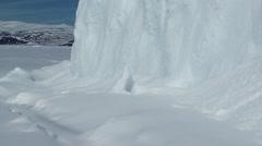 Large iceberg in the Nunavut landscape. Tilt Stock Footage