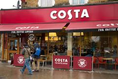 Stock Photo of LONDON - JANUARY 21TST: The exterior of a Costa coffee shop on January the 21