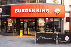 Stock Photo of LONDON - JANUARY 22nd: The exterior of Burger king on January the 22nd, 2015,