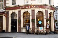 LONDON - JANUARY 22nd: The exterior of Bella italia on January the 22nd, 2015 - stock photo