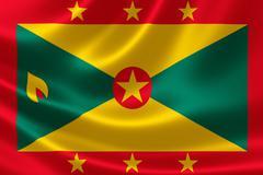 Close Up of Grenada's Flag - stock illustration