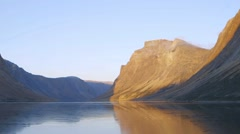 Torngat Mountains, Newfoundland & Labrador, Canada. Slow Motion Stock Footage