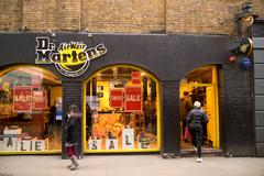 Stock Photo of LONDON - JANUARY 22nd: The exterior of Dr martens on January the 22nd, 2015,