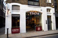 Stock Photo of LONDON - JANUARY 22nd: The exterior of an Costa on January the 21, 2015, in L