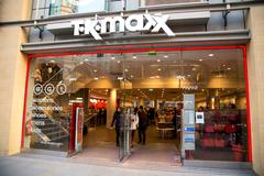 LONDON - JANUARY 22nd: The exterior of TK maxx on January the 22nd, 2015, in  Stock Photos