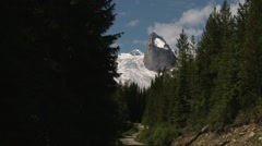 Small portion of the Bugaboo Mountain Range, British Columbia. Zoom Stock Footage