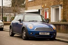 LONDON - FEBRUARY 7TH: A Mini on February the 7th, 2015, in London, England,  - stock photo