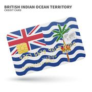 Stock Illustration of Credit card with British Indian Ocean Territory flag background for bank