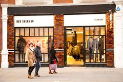 Stock Photo of LONDON - JANUARY 22nd: The exterior of Ben Sherman on January the 22nd, 2015,