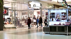 inside Burnaby shopping mall - stock footage