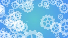 Technology background with metal gears and cogwheels - stock footage