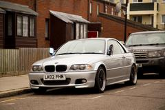 LONDON - FEBRUARY 7TH: A Bmw on February the 7th, 2015, in London, England, U - stock photo