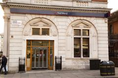 Stock Photo of LONDON - JANUARY 22nd: The exterior of a Natwest bank on January the 22nd, 20