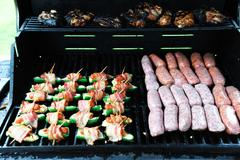 Meat grill barbecue Stock Photos