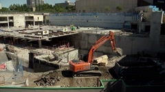 Ottawa Congress Center under heavy construction. Stock Footage