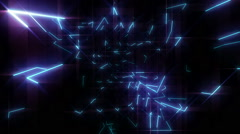 Colorful neon laser lights Stock Footage