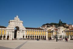 LISBON, PORTUGAL- January 10th, 2015: Praça do Comércio  in Lisbon on the 1 Stock Photos