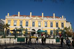 LISBON, PORTUGAL- January 11th, 2015: The exterior Pharmacia restaurant in Li Stock Photos