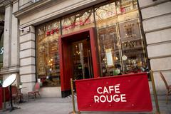 LONDON - DECEMBER 11TH: The exterior of Cafe rouge on December 11th, 2014 in  - stock photo