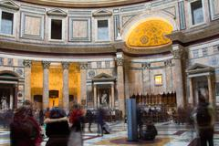 Stock Photo of ROME - JANUARY 24TH: The pantheon Basilica santa maria on the 24th of January