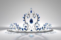Prom Tiara - Sapphire & Silver Stock Illustration