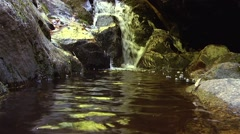 Base of a Small waterfall in Luskville Falls Trail, Gatineau. Stock Footage