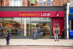 Stock Photo of LONDON - SEPTEMBER 5TH: The exterior of an sainbury's supermarket on Septembe