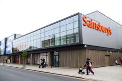 Stock Photo of LONDON - SEPTEMBER 5TH: The exterior of a Sainbury's supermarket on September