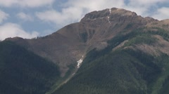 The road leading to the Bugaboo Mountains, British Columbia. Zoom Stock Footage