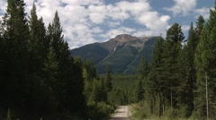 Road leading to the Bugaboo Mountains, British Columbia. Stock Footage