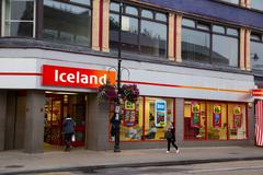 LONDON - SEPTEMBER 5TH: The exterior of an Iceland supermarket on September t Stock Photos
