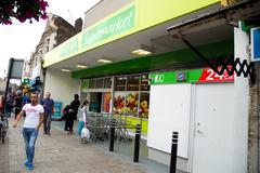 LONDON - SEPTEMBER 5TH: The exterior of an asda supermarket on September the  Stock Photos