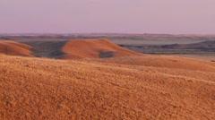 Sprawling prairies of Saskatchewan at dusk. Zoom Stock Footage