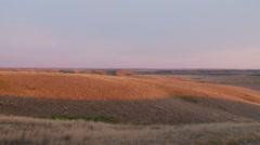 Saskatchewan, Val Marie, Dusk in the Prairies landscape - stock footage