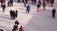 Stock Video Footage of Skaters on Rideau Canal v.2-2