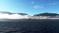 Time lapse of clouds rolling over Telegraph Cove, British Columbia. Stock Footage