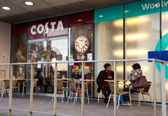 Stock Photo of LONDON - DECEMBER 28TH: The exterior of a Costa coffee shop on December the 2