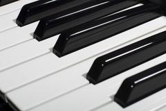 Composition of piano keys - stock photo