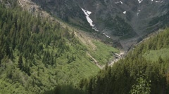 Valley within the Bugaboo Mountain range. Zoom Stock Footage