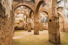 The interior of Chellah which is the world heritage in Rabat - stock photo