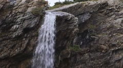 Small waterfall in Torngat Mountains. Stock Footage
